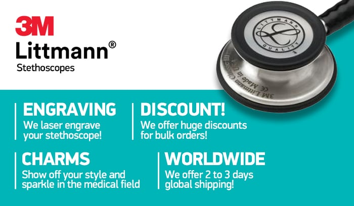 3M Littmann stethoscopes with laser engraving