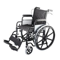 Economy wheelchair with 41-centimeter seat and brakes