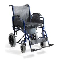 Transportation wheelchair with brakes or with brakes and pot
