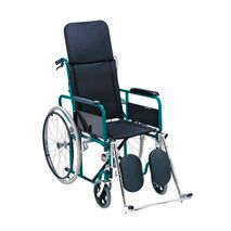 Foldable manual wheelchair with reclining back