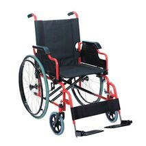 Metallic folding wheelchair with office sides