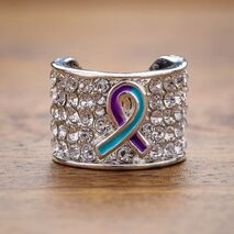 Purple and Tirquoise Ribbon