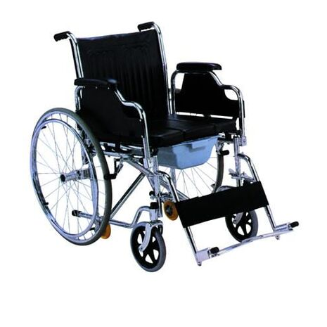 Foldable Wheelchair with WC Pot